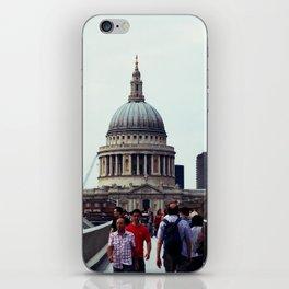 St. Paul's over Millenium Bridge iPhone Skin