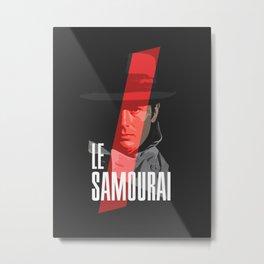 Le Samourai - Alain Delon Metal Print
