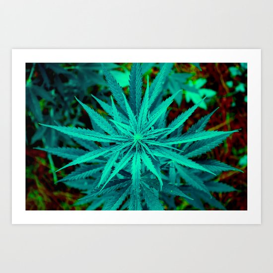 Twisted Frosty Weed Art Print