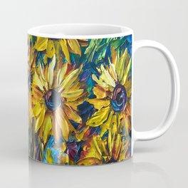 SUNFLOWERS — Palette knife Coffee Mug