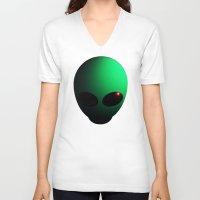 alien V-neck T-shirts featuring Alien by Nicklas Gustafsson