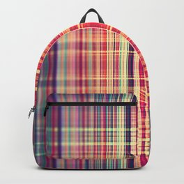 Vintage red and yellow stripes pattern Backpack