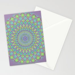 Purple Spirograph Mandala 0118 Stationery Cards