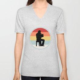 Horn Tee Shirt For Dad Unisex V-Neck