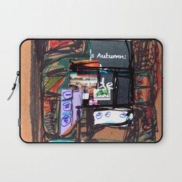 Autumn blackboard Laptop Sleeve