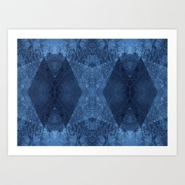 P19-CB2-BLUE ABSTRACT PATTERN Art Print