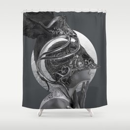 The Black Wings Shower Curtain