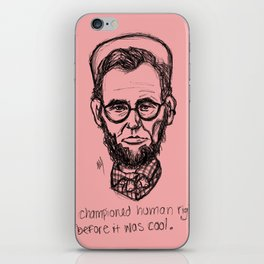American Hipstory: Abe Lincoln iPhone Skin