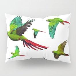 Slender-billed Parakeet (Enicognathus leptorhynchus) Pillow Sham