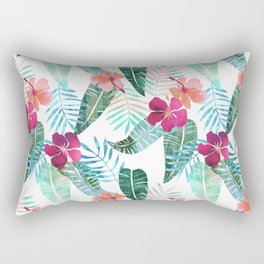 Island Goddess Tropical White Rectangular Pillow