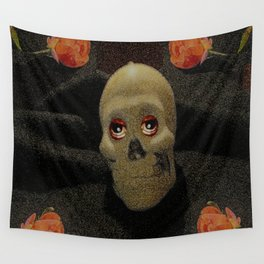 In the dark is a skull Wall Tapestry