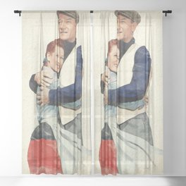 The Quiet Man - Watercolor Sheer Curtain