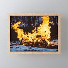 Set on Fire Framed Mini Art Print