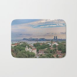 Aerial View of Olinda and Recife, Pernambuco Brazil Bath Mat