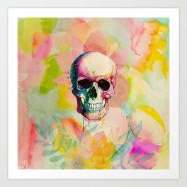 A Happy Skull Art Print