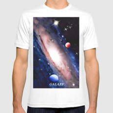 GALAXY. Mens Fitted Tee White MEDIUM