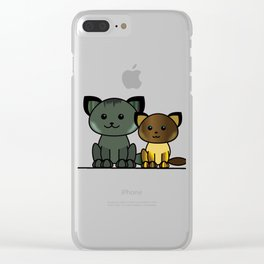 Meet My Cats - Illustration Clear iPhone Case