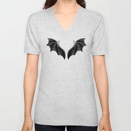 Black Dragon Wings Unisex V-Neck