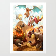 Fire Blast Art Print