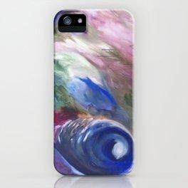 Blue Vision  Original Painting by Ciel Ellis iPhone Case