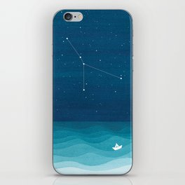 Cancer zodiac constellation iPhone Skin
