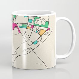 Colorful City Maps: Dubai, UAE Coffee Mug