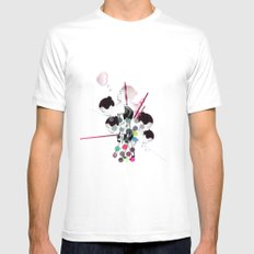 Bubbles Mens Fitted Tee White MEDIUM
