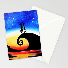 Jack Skellington Starry night Stationery Cards