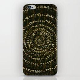 Elder Futhark Spiral Art iPhone Skin