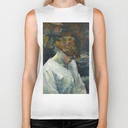 """Henri de Toulouse-Lautrec """"La Rousse in a White Blouse"""" Biker Tank"""
