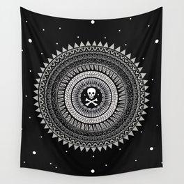 Space Skull & Bones Wall Tapestry