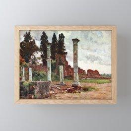 Library of the Domus Flavia, Palatine Hill, Rome Framed Mini Art Print