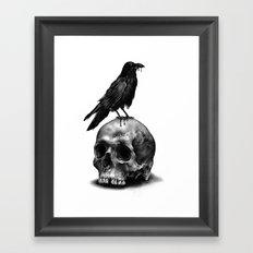 Skull & Raven Framed Art Print