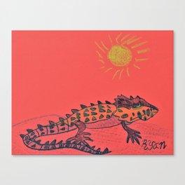Crocodile Skink Canvas Print