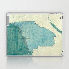 Maine State Map Blue Vintage Laptop & iPad Skin