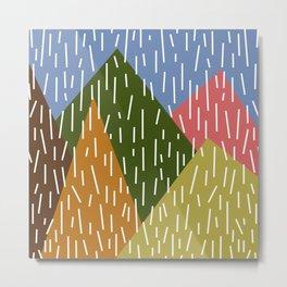 Raining Mountains Metal Print