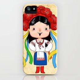 A Ukrainian Girl iPhone Case