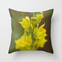 montana Throw Pillows featuring Montana  Wildflower by Lori Anne Photography