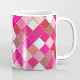Pink Tiles Pattern Coffee Mug