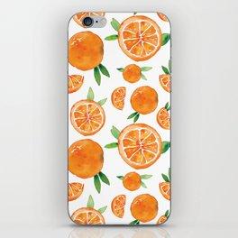 Zesty Orange Pattern iPhone Skin