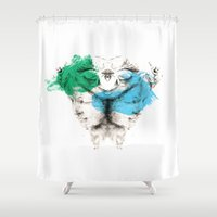 carousel Shower Curtains featuring Carousel by Rafael Igualada