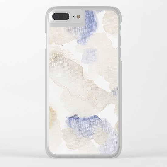 Bloom No. 9 Abstract watercolor floral Clear iPhone Case