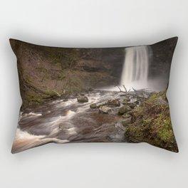 Henrhyd Falls South Wales AKA The Batcave Rectangular Pillow