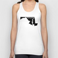 maryland Tank Tops featuring Maryland by Isabel Moreno-Garcia