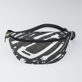 Black and White Tools Fanny Pack