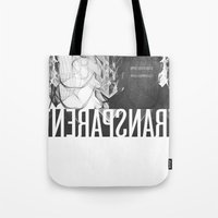 transparent Tote Bags featuring Transparent by GarthIvan