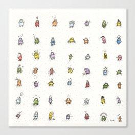 49 guys Canvas Print