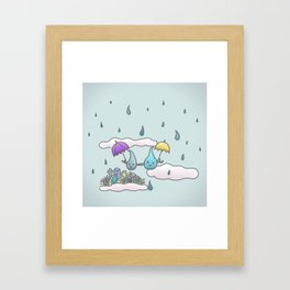 Rain drops keep falling on my head Framed Art Print