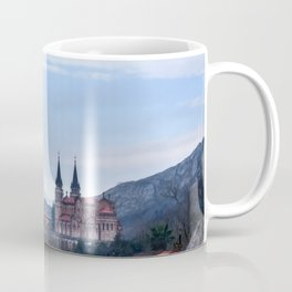 Basilica of Covadonga in the mountains, Spain Coffee Mug