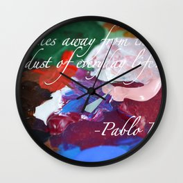 Paint like Picasso. Wall Clock